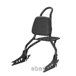 Detachable Sissy Bar Passenger Backrest 20 + Luggage Rack for Softail Fat Bob