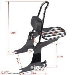 Detachable Sissybar Backrest Luggage Rack For Harley Davidson Sportster 1994-03