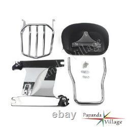 Detachable Sissybar Backrest Luggage Rack For Harley Dyna 08-09 FXDF FXDFSE
