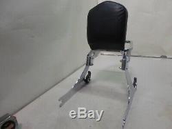 Detachable Sissybar Backrest Luggage Rack For Harley Dyna Low Rider 02-05