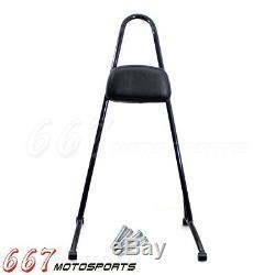 Detachable Tall Passenger Backrest Pad Sissy Bar Cushion For Harley Sportster XL