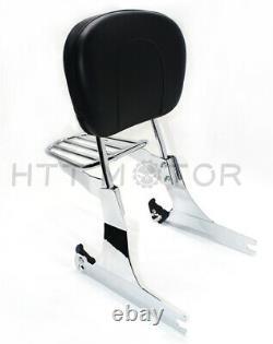 Detachable sissybar backrest luggage rack For Harley 05-19 FXD Dyna Super Glide