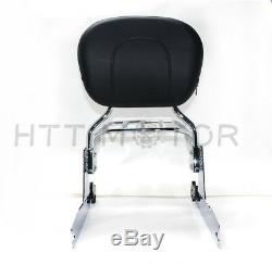 Detachable sissybar backrest luggage rack For Harley Softail Deluxe 2006-2017 Ch