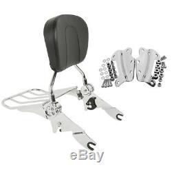 Docking Hardware Backrest Sissy bar Kit For Harley 09-13 Road King Road Glide
