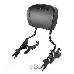 Docking Kit Detachable Backrest Sissy bar For Harley Touring Electra Glide 14-UP
