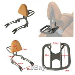 For 2015-2018 Indian Scout Titanium Passenger Backrest Sissy Bar Seat With Rack US
