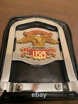For Harley Sport Glide Low Rider One-Piece Steel Passenger Sissy Bar Backrest