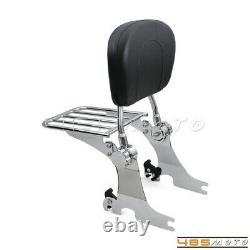 For Harley Sportster 1200 883 94-03 Detachable Sissy Bar Backrest Luggage Rack