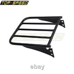 For Harley Sportster XL 883 1200 2004-Up Black Sissy Bar Backrest Luggage Rack