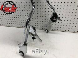 Genuine 09 18 Harley Touring Chrome Sissy Bar Passenger Backrest Pad OEM C913
