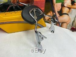 Genuine 09-20 Harley Touring Short Sissy Bar Passenger Backrest Pad Chrome