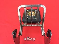 Genuine 2000-2017 Harley Softail Sissy Bar Backrest Luggage Rack Detachable