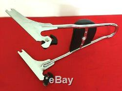 Genuine 2006-2017 Harley Dyna Chrome One-piece Detachable Backrest Sissy Bar