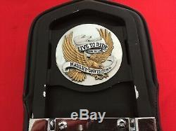 Genuine 2010-2017 Harley Dyna Fxdwg Detachable Backrest Sissy Bar Luggage Rack