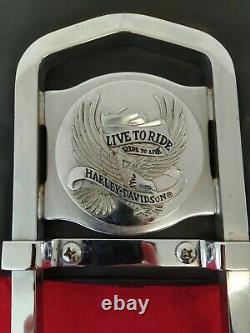 Genuine 84-05 Harley Softail Heritage Classic Bucket Backrest Upright Sissy Bar