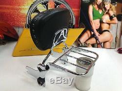 Genuine 97-08 Harley Touring Passenger Sissy Bar Backrest & Rack OEM MSRP $360
