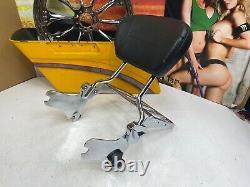 Genuine 97-08 Harley Touring Tall Sissy Bar Backrest / Luggage Rack