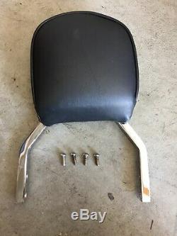 Genuine Harley Backrest, Sissy Bar & Detachable Sideplates Chrome 52866-06A K124