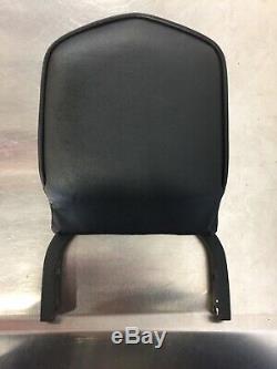 Genuine Harley Backrest, Sissybar & Detachable Sideplates Wrinkle Black K126