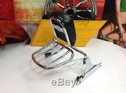 Genuine Harley Breakout 09 CVO Springer Detachable Backrest Sissy Bar & Rack OEM