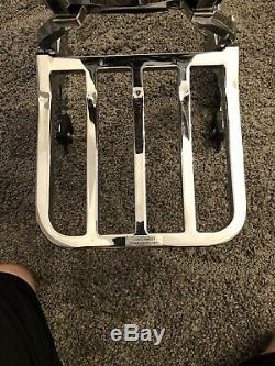 Genuine Harley Dyna Quick Release Backrest Sissy Bar Luggage Rack 2006-2017