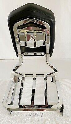 Genuine Harley Dyna Quick Release Backrest Sissy Bar Luggage Rack Detachable HD