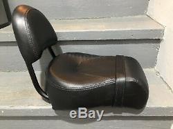 Genuine Harley Dyna Quick Release Passenger Pillion Seat Sissy Bar Backrest