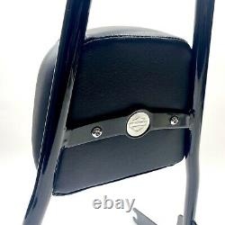 Genuine Harley OEM 06-17 Dyna Tall Gloss Black Detachable Sissy Bar Backrest