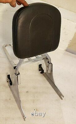Genuine Harley Softail Detachable Chrome Sissy Bar w Luggage Rack + backrest Pad