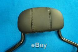 Genuine Harley Touring Quick Release Detach Black Short Sissy Bar Backrest 09-19