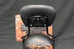 Genuine OEM'09-'19 Harley Black Detachable Sissy Bar Upright/Backrest and pad