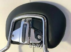 Genuine OEM 97-08 Harley Davidson Touring Quick Release Sissy Bar Backrest