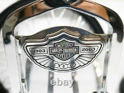 Genuine OEM 97-08 Harley Touring 100 Year Anniversary Sissy Bar Backrest Chrome