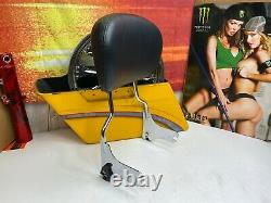 Genuine OEM 97-08 Harley Touring Leather Pad Sissy Bar Backrest Tall