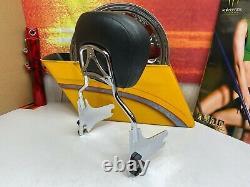 Genuine OEM 97-08 Harley Touring Street Glide Stitching Sissy Bar Backrest