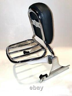 HARLEY DAVIDSON Original OEM Chrome Detachable Luggage Rack Sissy Bar Backrest