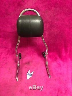 HARLEY SOFTAIL DELUXE FLSTN Detachable SISSYBAR PASSENGER BACKREST Pad Seat Nice
