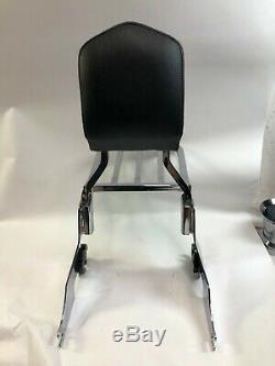 Harley 04 up sportster detachable sissy bar passenger backrest luggage rack pad