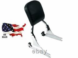 Harley 2000-2017 CHROME quick-release CVO Deluxe Softail Sissy Bar Backrest NEW