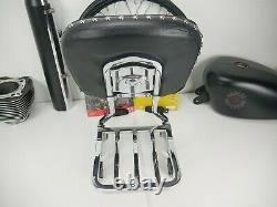 Harley-Davidson 04-20 OEM Sportster XL883 1200 Backrest Sissy Bar Luggage Rack