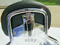 Harley Davidson 97-08 Short Sissy Bar+ compact pass backrest pad- tour-quick