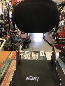 Harley Davidson Chrome Detachable Sissy Bar And Mustang Backrest Pad #53810-00B