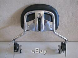 Harley Davidson Cvo Short Passenger Chrome Sissy Bar And Backrest Pad'09'20