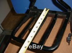 Harley Davidson Genuine Detachable Gloss Black Backrest Sissybar Luggage Rack