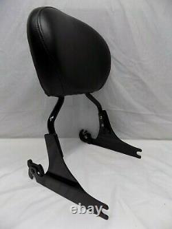 Harley-Davidson Gloss Black Detachable Softail Sissybar Backrest with Smooth Pad