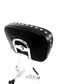 Harley- Davidson Hd New Softail Backrest Sissybar Studded Pad Tall Chrome 00-17
