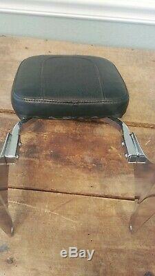 Harley Davidson Motorcycle Backrest Sissy Bar Softail Custom Gold Eagle Leather