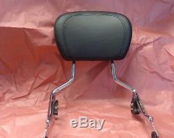 Harley Davidson OEM Detachable Touring Top Stitched Passenger Sissy Bar Backrest