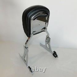 Harley Davidson OEM Dyna Chrome Detachable Passenger Backrest Sissy Bar 06-Later