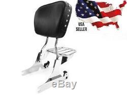 Harley Davidson Softail Springer Heritage Classic Backrest Sissybar Rear Carrier